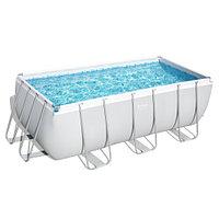 Каркасный прямоугольный бассейн Bestway 56457 (412х201х122 см) с песочным фильтром и лестницей, фото 1