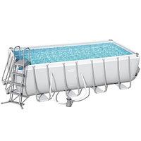 Каркасный бассейн Bestway 56670 (488х244х122 см) с картриджным фильтром, лестницей и тентом, фото 1