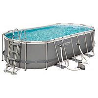 Каркасный бассейн Bestway 56710 (549х274х122 см) с картриджным фильтром, лестницей и защитным тентом, фото 1