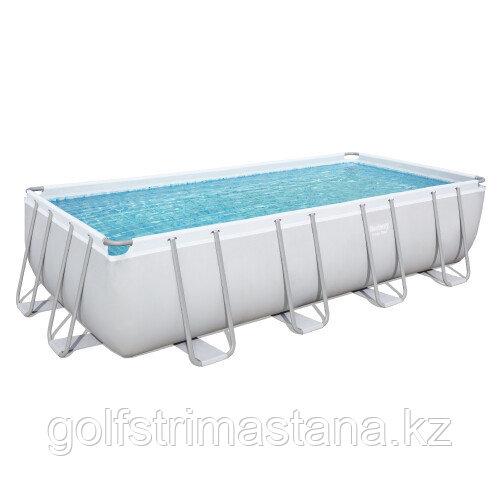 Каркасный прямоугольный бассейн Bestway 56466 (549х274х122 см) с песочным фильтром, лестницей и тентом