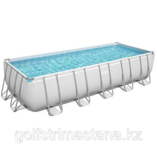 Каркасный бассейн Bestway 5612B (640х274х132 см) с песочным фильтром, лестницей и тентом