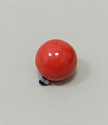 Шарик 2,5 см / коралловый / для браслета «СО»