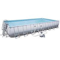 Каркасный бассейн Bestway 56623 (956х488х132 см) с песочным фильтром, лестницей и тентом, фото 1
