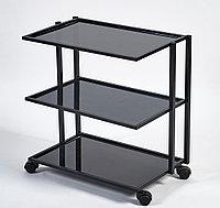 Стол инструментальный (3 полки) прямоугольный с прозрачным стеклом