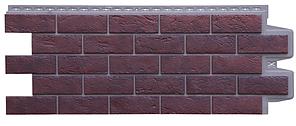 Фасадные панели Жжёный  1109х418 мм Состаренный кирпич ЭЛИТ Grand Line
