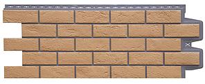Фасадные панели Солома 1109х418 мм Состаренный кирпич ЭЛИТ Grand Line