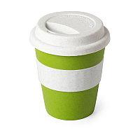 Стакан FLIKER с крышкой, полипропилен с бамбуковым волокном,силикон, Зеленый, -, 346376 15