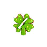 """Печенье шоколадное  """"Клевер с предсказанием"""", 35 гр, зеленый, , 34108"""