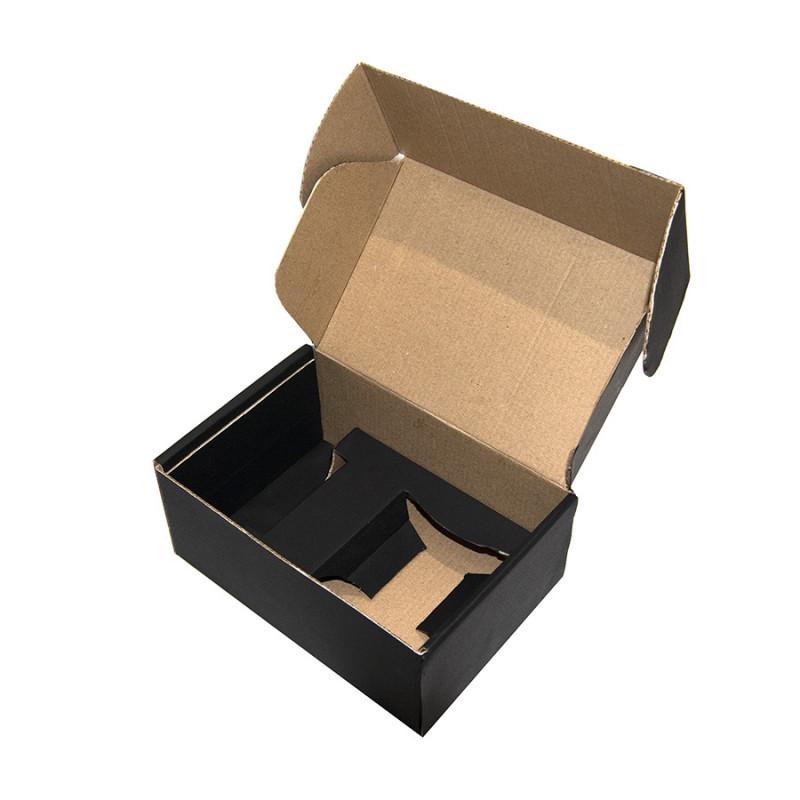 Коробка подарочная с ложементом, размер 20,5х13,5х8,5 см, картон, самосборная, черная, черный, , 21026 - фото 2