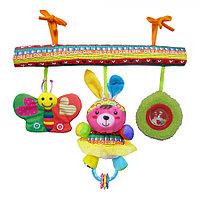 BIBA TOYS Развивающая игрушка подвесная на кроватку СЧАСТЛИВЫЕ ЖИВОТНЫЕ 42*32*41 см