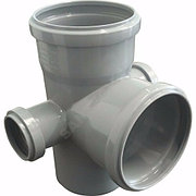 Крестовина двухплоскостная канализационная Дн 110*110*50/90гр. левая и правая серая