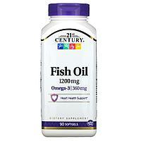 Рыбий жир, 1200 мг, 90 мягких таблеток