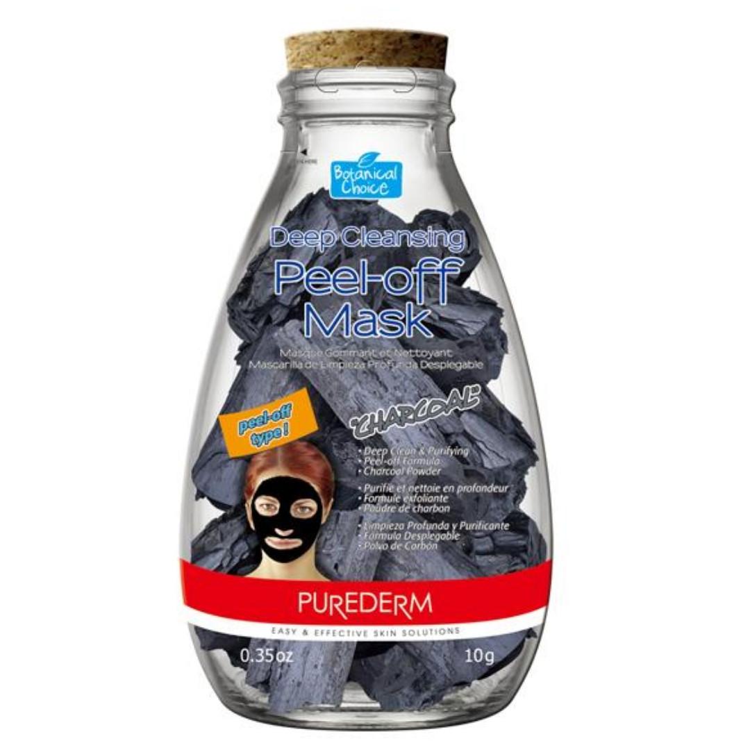 Угольная маска-пленка для глубокого очищения кожи лица Deep Cleansing Peel-off Mask «Charcoal» (10 гр)