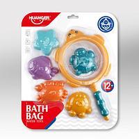 HAUNGER Набор игрушек для ванной 6 шт.МОРСКОЙ (блистер), фото 1