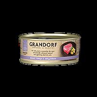 12581 GRANDORF, Филе тунца с мидиями, влажный корм для кошек всех возрастов, баночка 70гр.
