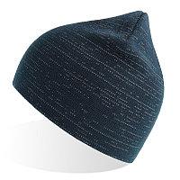 Шапка вязаная SHINE светоотражающая из материала rPET/рециклированного полиэстера, Темно-синий, -, 254230.26