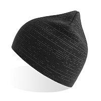 Шапка вязаная SHINE светоотражающая из материала rPET/рециклированного полиэстера, Черный, -, 254230.35