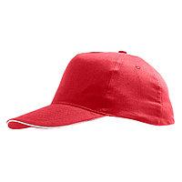 Бейсболка SUNNY 180, 5 клиньев, застежка на липучке, Красный, -, 788110.908