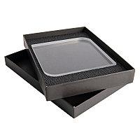 Награда QUADRA в подарочной коробке, матовые грани, 150х150х20 мм, акрил, прозрачный, , 34700у