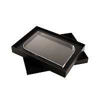 Награда HAPPY LIFE в подарочной коробке, грани с фаской, 200х131х25 мм, акрил, прозрачный, , 34703у