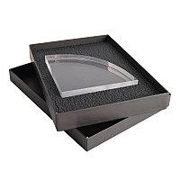 Награда SEGMENT в подарочной коробке, прямые грани матовые, дуга с фаской, 140х140х25 мм, акрил, прозрачный, ,