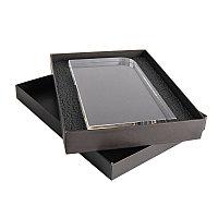 Награда STATUS в подарочной коробке, грани с фаской, 115х210х25 мм, акрил, прозрачный, , 34707у
