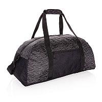 Светоотражающая спортивная сумка из RPET AWARE™, черный, Длина 52 см., ширина 26 см., высота 25 см., P707.081