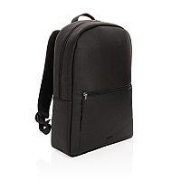 Рюкзак для ноутбука Swiss Peak Deluxe из экокожи (без ПВХ), черный, Длина 49 см., ширина 30 см., высота 11