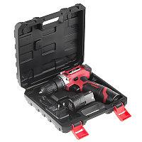 Шуруповерт аккумуляторный HIPER HCD12A/2А, 12В, в кейсе, Li-ion батарея 1,5 Ач (2 шт), 25Нм, красный, , 37205