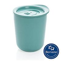 Термокружка для кофе с защитой от микробов, зеленый, Длина 9,2 см., ширина 8,5 см., высота 10,6 см., диаметр