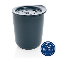 Термокружка для кофе с защитой от микробов, синий, Длина 9,2 см., ширина 8,5 см., высота 10,6 см., диаметр 8,5