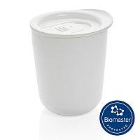 Термокружка для кофе с защитой от микробов, белый, Длина 9,2 см., ширина 8,5 см., высота 10,6 см., диаметр 8,5