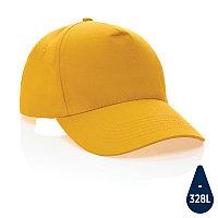 Бейсболка Impact из переработанного хлопка AWARE™, 5 клиньев, 190 г/м2, желтый, , высота 12 см., диаметр 18,5