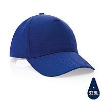Бейсболка Impact из переработанного хлопка AWARE™, 5 клиньев, 190 г/м2, синий, , высота 12 см., диаметр 18,5