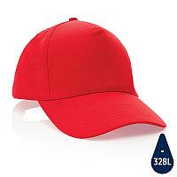 Бейсболка Impact из переработанного хлопка AWARE™, 5 клиньев, 190 г/м2, красный, , высота 12 см., диаметр 18,5