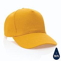 Бейсболка Impact из переработанного хлопка AWARE™, 5 клиньев, 280 г/м2, желтый, , высота 12 см., диаметр 18,5