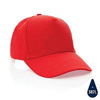 Бейсболка Impact из переработанного хлопка AWARE™, 5 клиньев, 280 г/м2, красный, , высота 12 см., диаметр 18,5
