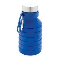 Герметичная складная силиконовая бутылка с крышкой, синий, , высота 24,3 см., диаметр 7,1 см., P432.625