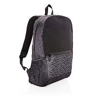 Светоотражающий рюкзак для ноутбука из RPET AWARE™, черный, Длина 31 см., ширина 15 см., высота 47 см.,
