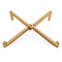 Складная подставка для ноутбука Bamboo, коричневый, Длина 31,8 см., ширина 8 см., высота 2 см., P262.019