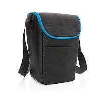 Компактная сумка-холодильник Explorer, черный; синий, Длина 23 см., ширина 15 см., высота 32 см., P422.321