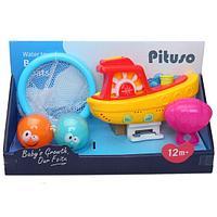 PITUSO Набор игрушек для ванной КОРАБЛИК С МЯЧИКАМИ 13,5*14,5*16,5см, фото 1