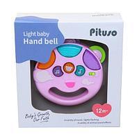 PITUSO Развивающая игрушка МУЗЫКАЛЬНЫЙ БУБЕН (розовый) (свет,звук) 12*11*3,5 см, фото 1