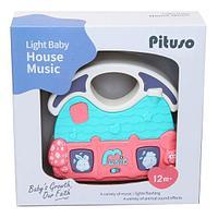 PITUSO Развивающая игрушка МУЗЫКАЛЬНЫЙ ДОМ (голубой) (свет,звук) 12,5*11,5*3,5 см, фото 1