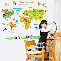 """Наклейка """"Карта мира"""", вид №2"""