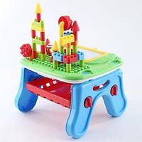 PITUSO Развивающий столик 2в1 СТРОИТЕЛЬ (свет,звук) 36*39*18 см, фото 1