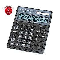 Калькулятор настольный Citizen SDC-414N, 14 разрядов, двойное питание, 158*204*31мм, черный