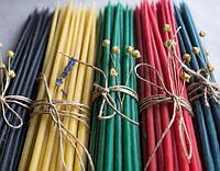 Свечи Разноцветные восковые цена от 48 тенге за 1 шт. Длина свечи 205мм, фото 1