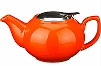 Заварочный чайник с металлической крышкой 600 мл. (кор=24шт.)