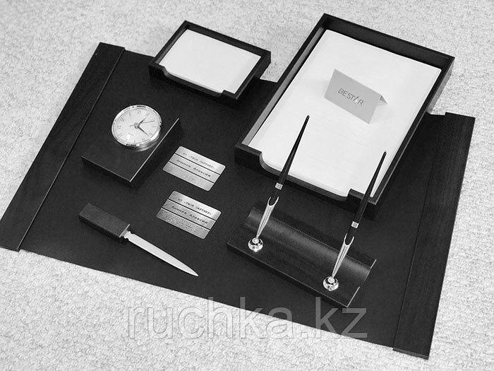 Настольный набор для руководителя Bestar, черный, 6 предметов - фото 2